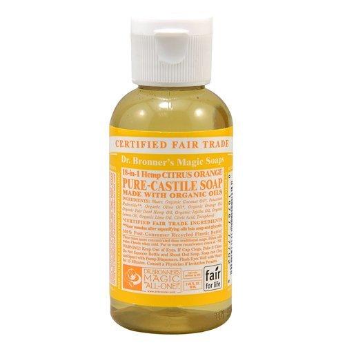 Dr Bronner Org Citrus Orange Liquid Soap 60ml