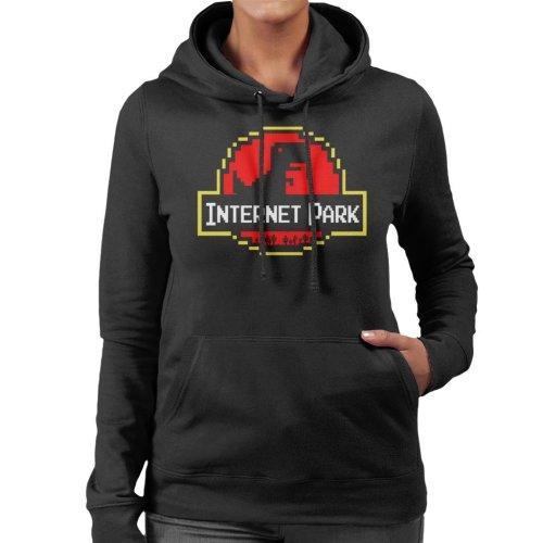 No Internet Jurassic Park Women's Hooded Sweatshirt