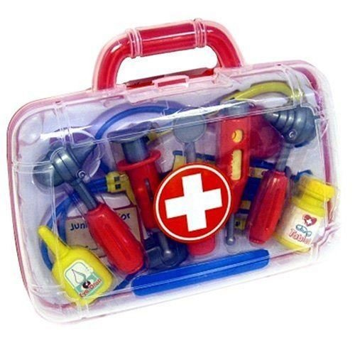 Vinsani Doctor Kit Learning Gift Medical Case Role Play Set with 11 Pieces for Boys Girls Age 3 and Up