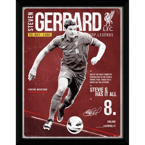Liverpool Gerrard Retro Framed Collector Print