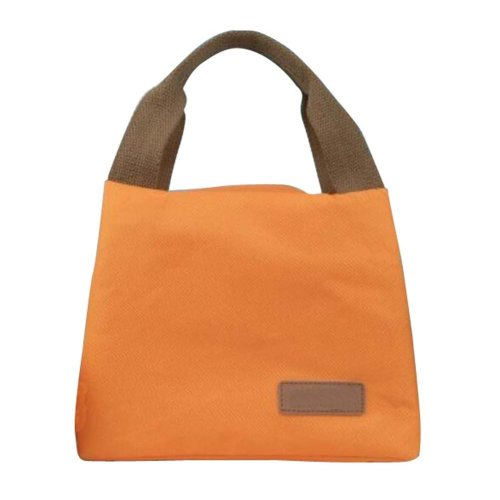 Simple Portable Lunch Bag Thicker Heat Preservation Lunch Box Bag-Orange