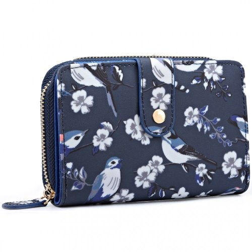 Miss Lulu Women's Flower & Bird Print Purse