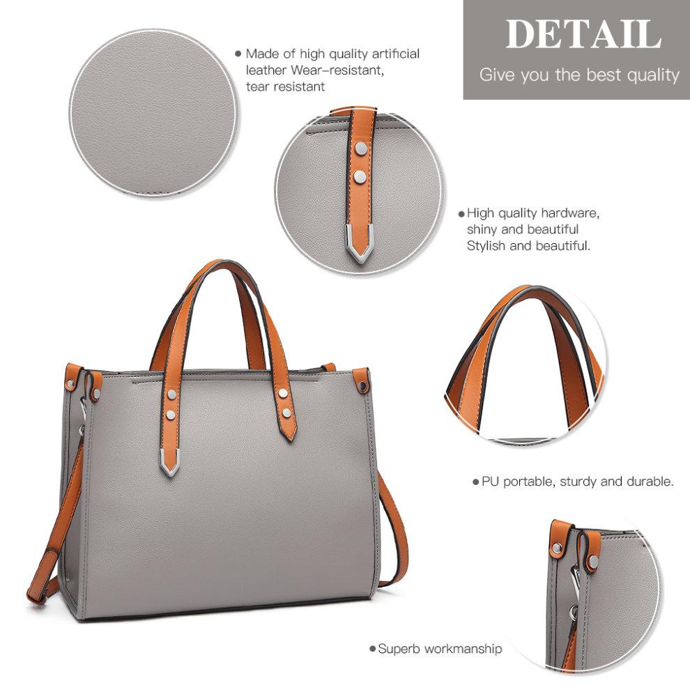 28a7483d1a238 ... Miss Lulu Women Handbag Shoulder Bag Purse Set 2 Pieces - 4 ...