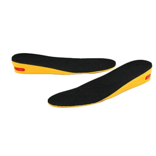 Comfortable 1-Layer 3.5 cm Height Increase Insole Shoes Pad for Men, Black