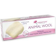 Carnation Footcare Animal Wool -  carnation animal wool 25g pressure friction padding 3 relieves foot 6 packs
