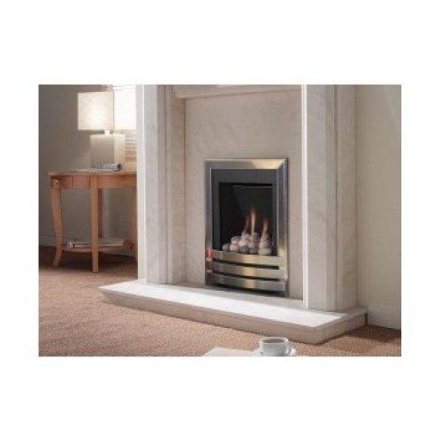 Designer Fire - Flavel FSRP80MN Silver/Pebble Windsor Contemporary Gas Fire - MC