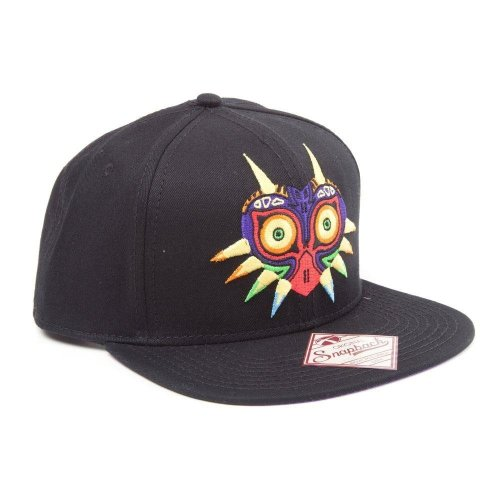 29a72f0e14010 Nintendo Legend Of Zelda Majoras Mask Snapback Baseball Cap - Black on OnBuy