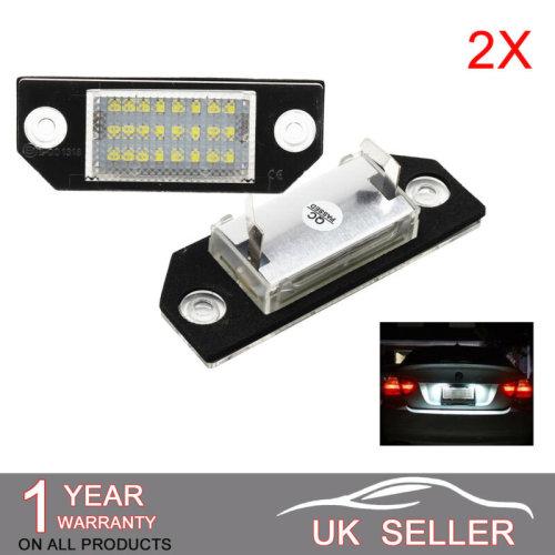 LED License Number Plate Light Lamp Error Free For FORD FOCUS C-MAX MK2 Lu01