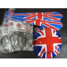 Union Jack Party Kit 45 People - Bunting Decoration -  party union jack kit 45 people bunting decoration