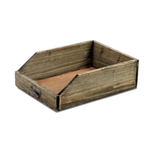 Wooden Paper Tray   Shabby Chic Home Office Organiser
