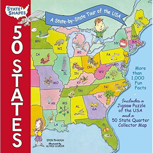 50 States: A State-By-State Tour of the USA (State Shapes)
