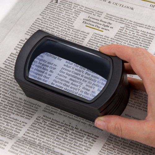 Carson Freestand Led Lighted Hands Free Loupe Magnifier-2.5X Pre-Focused