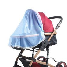 Mosquito Nets for Baby Strollers & Cribs Soft Insect Netting Cover- Blue