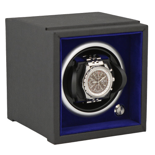 Watch Winder Larger Wrist Sizes Soft Touch with Blue Inner by Aevitas