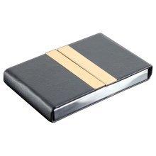 Business Card Case Leather Credit Card Holder Case BLACK