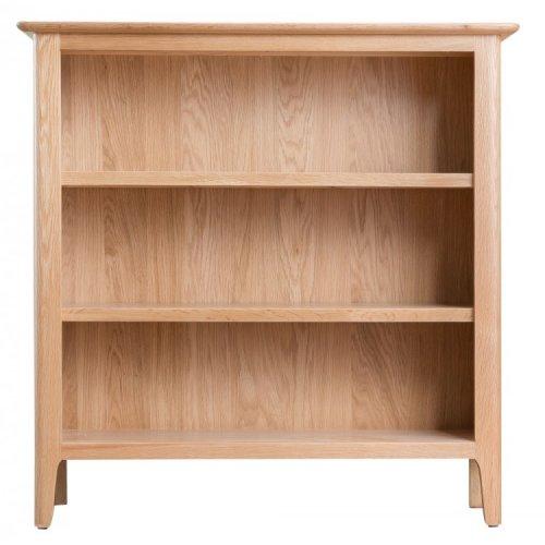 Bergen Oak Furniture Small Wide Bookcase