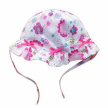 Summer Baby Girl Caps Cotton Sun Hat For 2-3 Years Baby Both Sides Floral