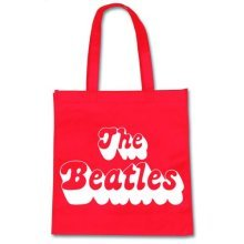 Rock Off - The Beatles Sac Shopping Eco 70's Logo Rouge -  various colour beatles 70s logo tote shopping bag eco friendly official
