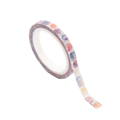 Color Bubble Pattern Washi Masking Tape, Set of 10 Rolls
