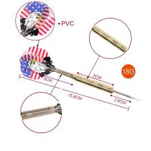 Set of 4 Electro-coppering Alloy Tip Darts with Brass Barrel (18 Grams)