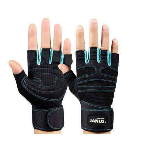 A Pair Fitness Dumbbell Training Equipment Non-slip Gloves Knee Braces Blue