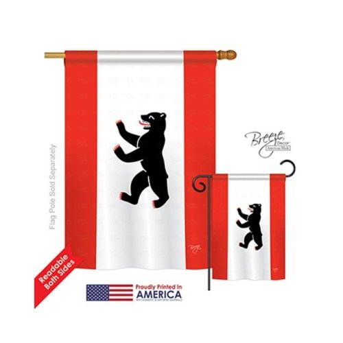 Breeze Decor 08232 Berlin 2-Sided Vertical Impression House Flag - 28 x 40 in.