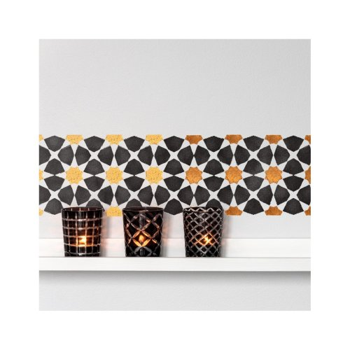 Amira Border Wall Furniture Floor Stencil for Painting