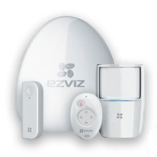 EZVIZ Wireless Alarm Starter Kit - Alarm Hub, PIR Sensor, Open-Close Detector & Remote Control