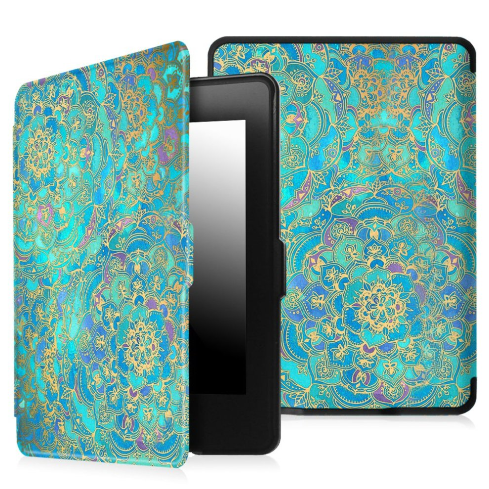 Fintie SlimShell Case for Kindle Paperwhite , Shades of Blue