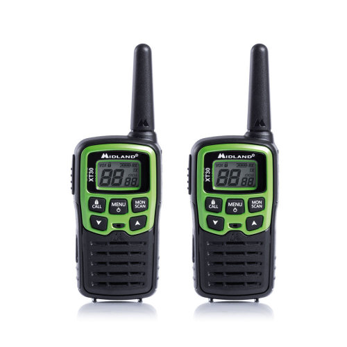 PMR Portable Radio Station Midland XT30 Set with 2 pcs. green C1177 includes batteries