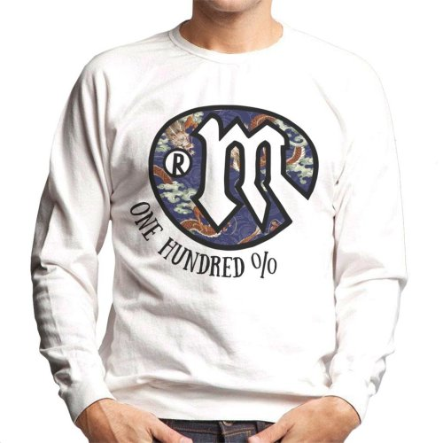 Mambo Dragon Art Logo Dark Text Men's Sweatshirt