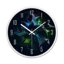 [B] 12 Inch Stylish Wall Clock Decorative Silent Non-Ticking Wall Clock