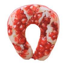 Fruits Style Cute Neck Pillow Kids U-Shape Pillows Adults Neck Support, D