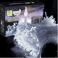 306 LED Curtain Icicle Fairy Lights, 3mx3m, 8 Modes, Daylight White