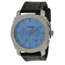 Fossil Machine Chronograph Leather Mens Watch FS5160