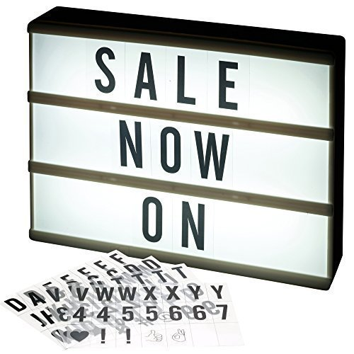 A4 LED Light Box Cinematic Message Board with 84 Characters Letters, Numbers & Symbols