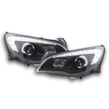 Headlight Opel Astra J 5-door Year 2009-2012 black with motor