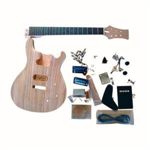 Mahogany body with Zerbrawood Veneer Top GDPR800B Electric Guitar DIY Kit BOLT-ON