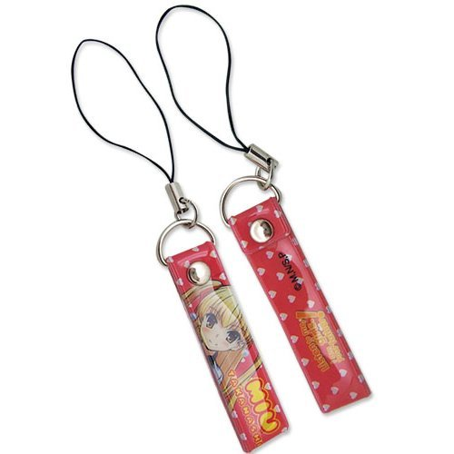 Cell Phone Charm - Listen to Me - New Miu Red Anime Licensed ge17046