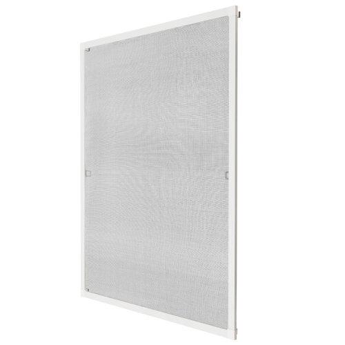 Fly screen for window frame 120 x 140 cm white