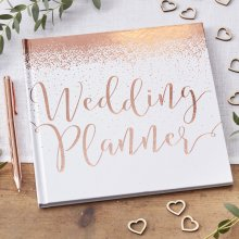 Wedding Planner - Rose Gold - Hardback Keepsake Ideas Book