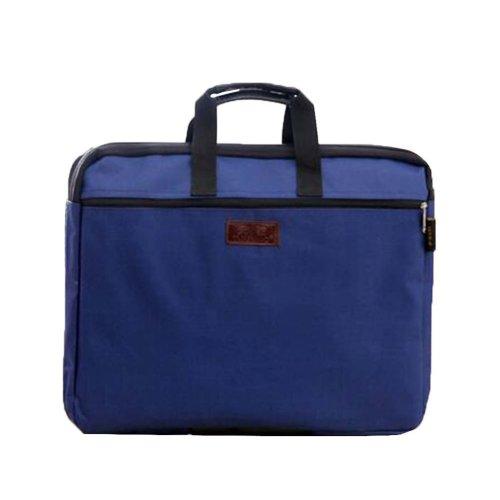 Portable Document Bag Zipper Bag Multi-layered Data Bag Briefcase, Blue-2