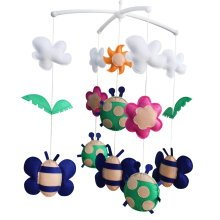 Cute Hanging Toys, Rotatable Crib Mobile, [Spring Scenery, Cute Insects]