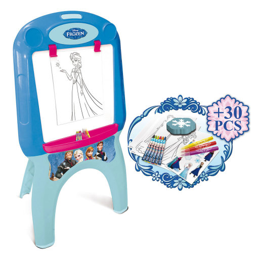 DISNEY Frozen My First Foldable Easel with 30pcs Creative Colouring Set, Blue
