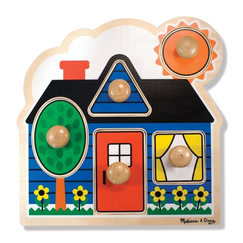 Melissa & Doug 12053 First Shapes Peg Puzzle (Large)