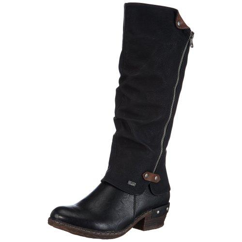 Rieker 93655, Women's Riding Boots, Black (Schwarz/Schwarz/Kastanie/00), 6.5 UK (40 EU)