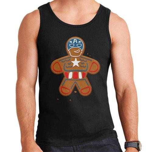 Marvel Avengers Christmas Gingerbread Captain America Men's Vest