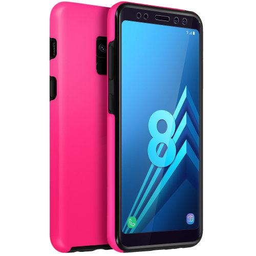 promo code 02307 89661 Silicone case + back cover in polycarbonate for Samsung Galaxy A8 – Pink
