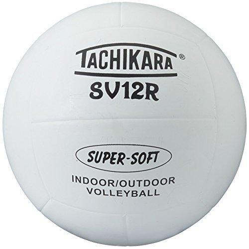 Tachikara Sv12R Super Soft 12 Panel Top Grade Rubber Volleyball (White)