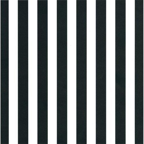 "Canvas Corp Single-Sided Printed Cardstock 12""X12""-Black & White Big Stripe"